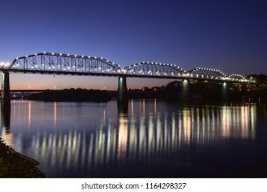 Chattanooga River Bridge at sunrise