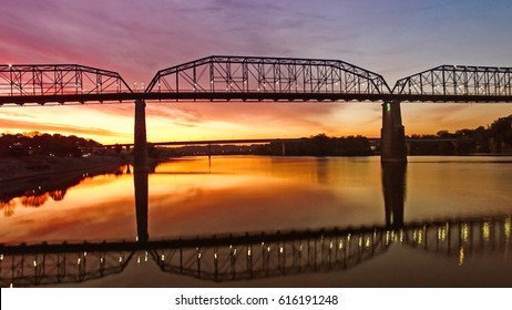 Chattanooga river front at sunrise