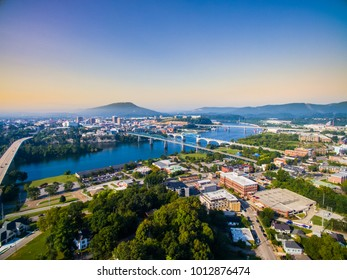 Chattanooga Tennessee Downtown Riverfront Aerial