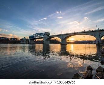 Chattanooga Tennessee Market Street Bridge Sunset