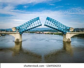 Chattanooga, Tennessee Market Street Bridge open for maintenance
