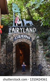 CHATTANOOGA, TN - OCT 4: Fairyland Caverns at Rock City Gardens, Lookout Mountain in Chattanooga, Tennessee, on Oct 4, 2016. The caverns are rock caves decorated with blacklight-responsive sculptures.