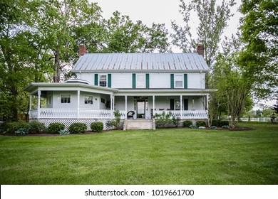 chattanooga, TN / USA - 042215: jumperosa-estate farm house interior and exterior shots