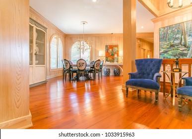 Chattanooga, TN / USA - 09/03/2015: Ooltewah Home Interior Living room view
