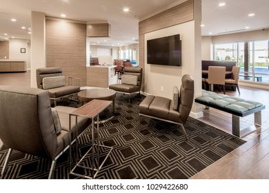 Chattanooga, TN / USA - 11.10.17: TownePlace Suites Interior View