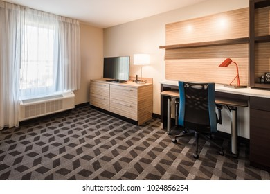 Chattanooga, TN / USA - 111017: TownPlace Suites room interior