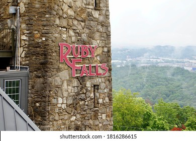 CHATTANOOGA,TENNESSEE, USA- August 24, 2020: Ruby Falls Chattanooga Tennessee