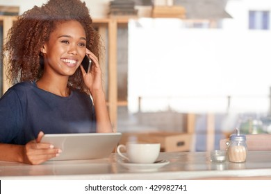Chatting on the phone and online