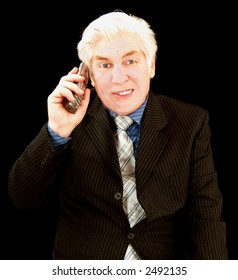 Chatting on the telephone is the CEO