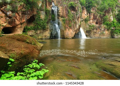 Chattrakarn waterfall , which its beautiful steps, is surrounded by cliffs ,Phitsanulok