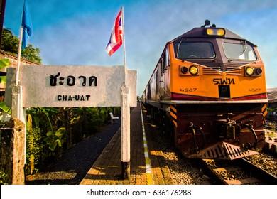 Cha-Uat District Railway Station, Nakhon Si Thammarat Province, Thailand,Railway Station Thailand