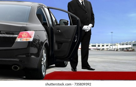 Chauffeur waiting for passenger