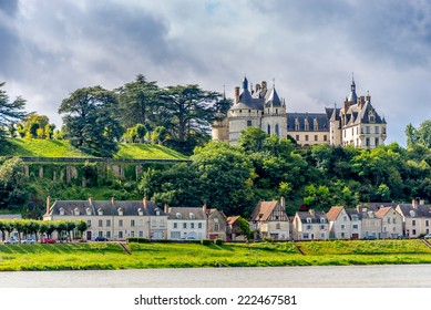 CHAUMONT, FRANCE - AUGUST 26,2014 - Chateau de Chaumont is located on the river Loire.In the 15th century Chateau de Chaumont was rebuilt by Charles I d Amboise.