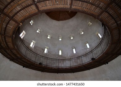 Chaumont sur Loire; France - june 29 2019: manege in the castle stable built in the end of the 19 th century
