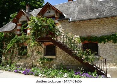 Chaumont sur Loire; France - june 29 2019: the castle farm built in 1900