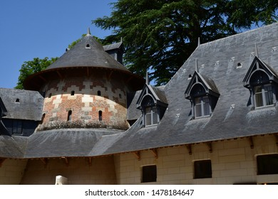 Chaumont sur Loire; France - june 29 2019: the castle stable built in the end of the 19 th century