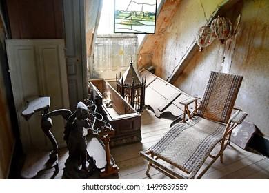 Chaumont sur Loire; France - june 29 2019: attic of the renaissance castle built by Charles II de Chaumont d Amboise