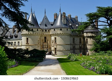 Chaumont sur Loire; France - june 29 2019: the renaissance castle built by Charles II de Chaumont d Amboise