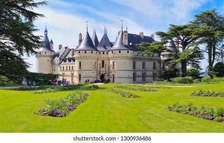 Chaumont-sur-Loire, France - June 1 2017 : castle of the Loire