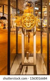 Chaut-de-Fonts,Switzerland - Sept.3,2018:Clock museum in Chat-de-Fonts