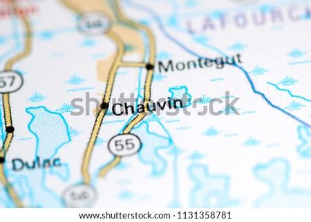 Chauvin Louisiana Usa On Map Stock Photo Edit Now 1131358781