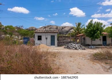 Chaval - Ceará - Brasil - SEP 11 2020: Neighborhood surrounding the stone park