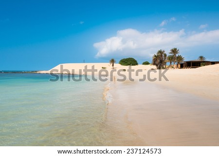 Chaves beach Praia de Chaves in Boavista Cape Verde - Cabo Verde