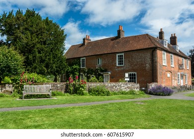 Chawton, United Kingdom - July 16, 2016: Jane Austen memorial house museum in Chawton, Hampshire, England, UK.