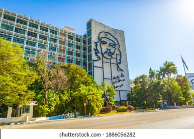 Che Guevara Wall Monument at The Ministry of the Interior, in front of the Plaza de la Revolucion