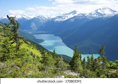 Cheakamus Lake near Whistler, BC, Garibaldi Provincial Park, Canada