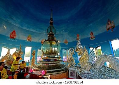 CHEANGMAI-THAILAND-DECEMBER 5 : Inside of the pagoda for worship, december 5, 2015, Cheangmai Province, Thailand.