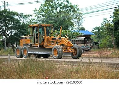 CHEANGRAI-THAILAND-DECEMBER 8 : A loader for construction the road, December 8, 2015 Cheangrai Province, Thailand