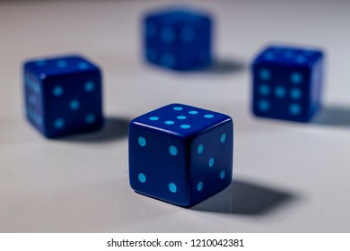 Cheat Dices with seven dots and blurry background