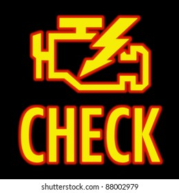 Dashboard Warning Lights Images, Stock Photos & Vectors
