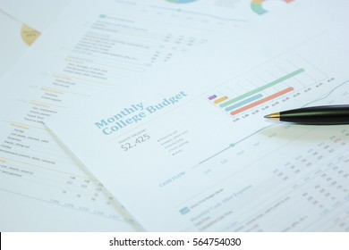 Check graph Market. Concept business and financial