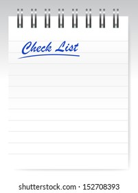 check list notepad illustration design over a white background