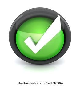 Check mark 3D icon
