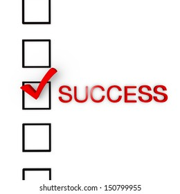 Check Mark for success !!