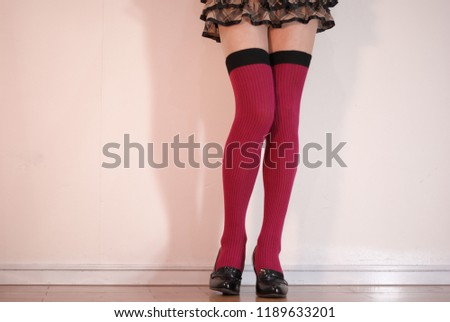 5cd3c7bd024 Check Mini Skirt Beautiful Legs Red Stock Photo (Edit Now ...