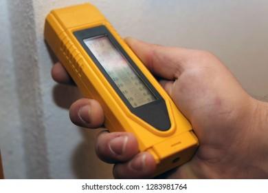 Check for moisture inside wall
