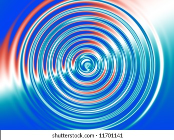 Check out this fractal background of concentric rings over a red, white and blue background.