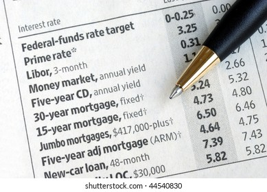 Check out various interest rates from the newspaper