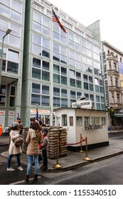 Check Point Charlie in Berlin,Germany-April 2015