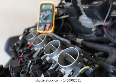 check and repair the Maintenance of Motorcycle carburetor,Maintenance,Motorcycle Engine.