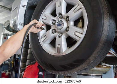 Check the tire pressure.