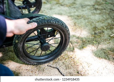 Check tire pressure on the stroller