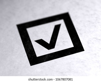 Checkbox on paper