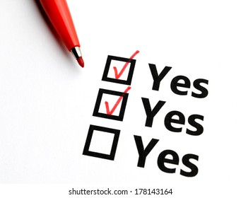Checkbox for yes