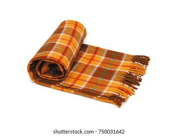Checked plaid isolated on white