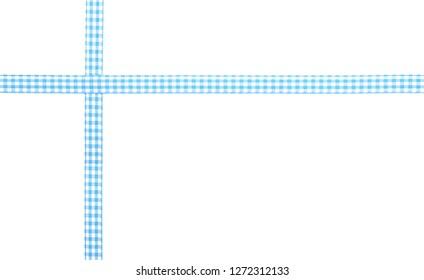 Checked ribbon on white background